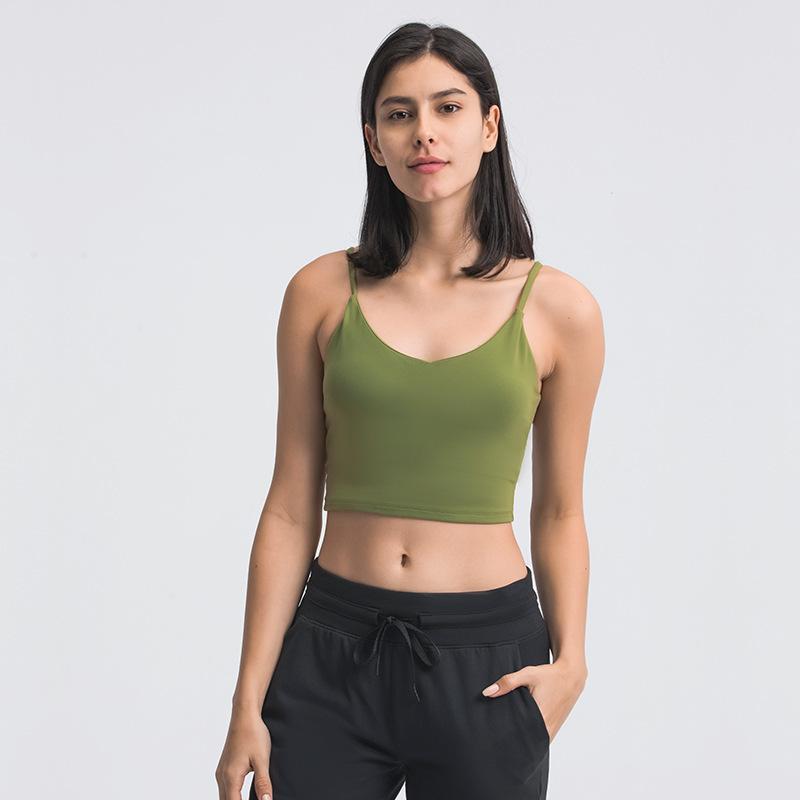 Stoßfest Yoga BH Laufung Gym Sport BH Top LU-149 Frauen Weiten Saum Push Up Workout Shirt Fitness Yoga Crop Tops Büstenhaltere