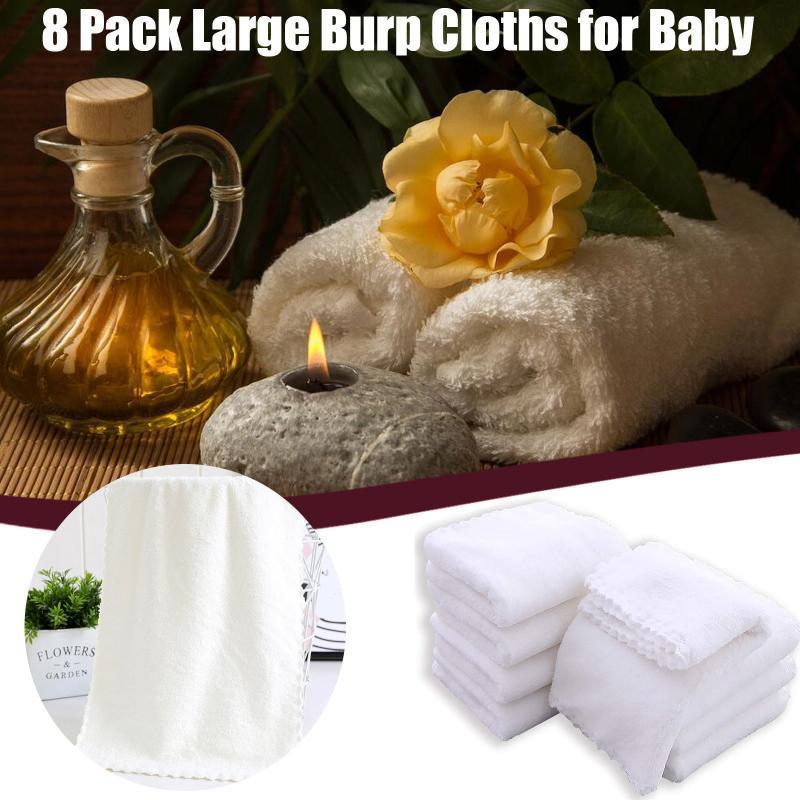 Paquete grandes Burp Paños para Baby Bek Spit Spit Up Rags Bib Bib Unisex Toalla
