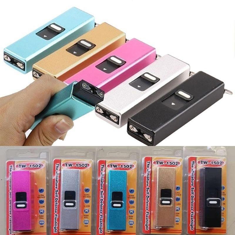 5 ألوان مصغرة صدمات كهربائية محمولة مفتاح المفاتيح المفاتيح الدفاع عن النفس كيرينغ عالية الإخفاء كهربائي صويلة حماية نفسك