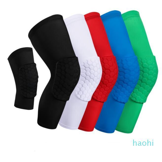 Wholealeasle Сотовый носок спортивная безопасность баскетбол спортивное Kneepad мягкое колено сжатие компрессии коленного рукава защитные подушки Y0009