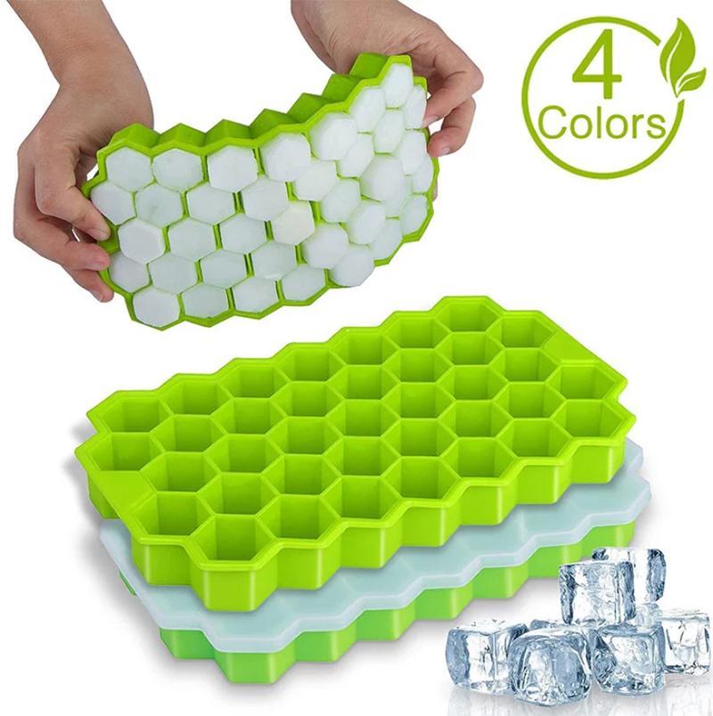 37 Sechseck Eis Tablett Gefrierwerkzeuge DIY Mold Silikon Material Hohlraum Cube Wabenkörpern Flexible Form Für Whisky Cocktail Kitchen Supplies