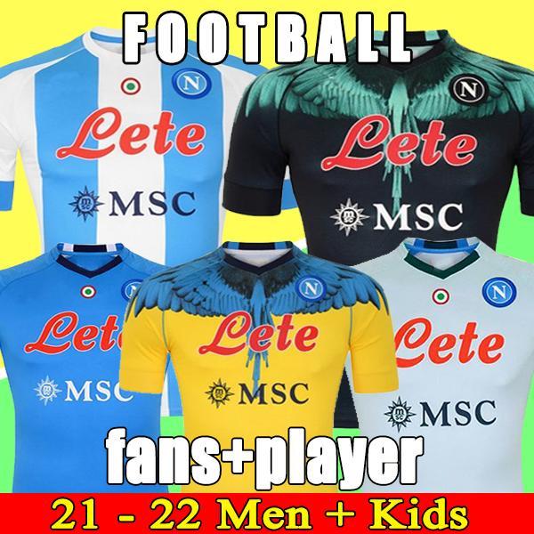 20 21 Napoli Soccer Jersey نابولي قميص كرة القدم 2021 كوليبالي Camiseta de Fútbol Insigne Maradona Maillot Foot Mertens Camisa