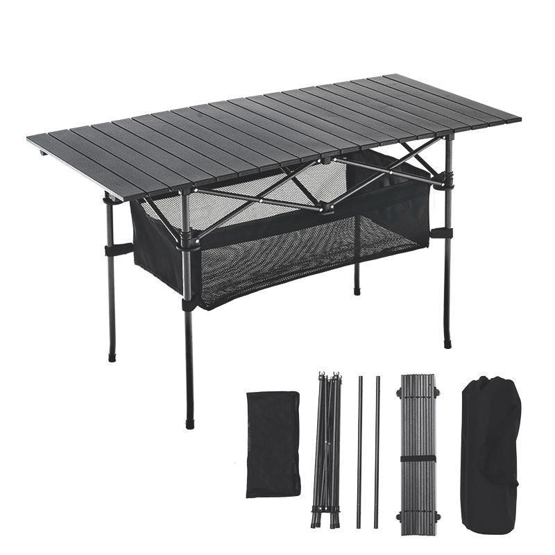 Meubles de camp de camps de table pliante en plein air Camping aluminium alliage pique-nique étanche durable bureau pour 140 * 70 * 70cm
