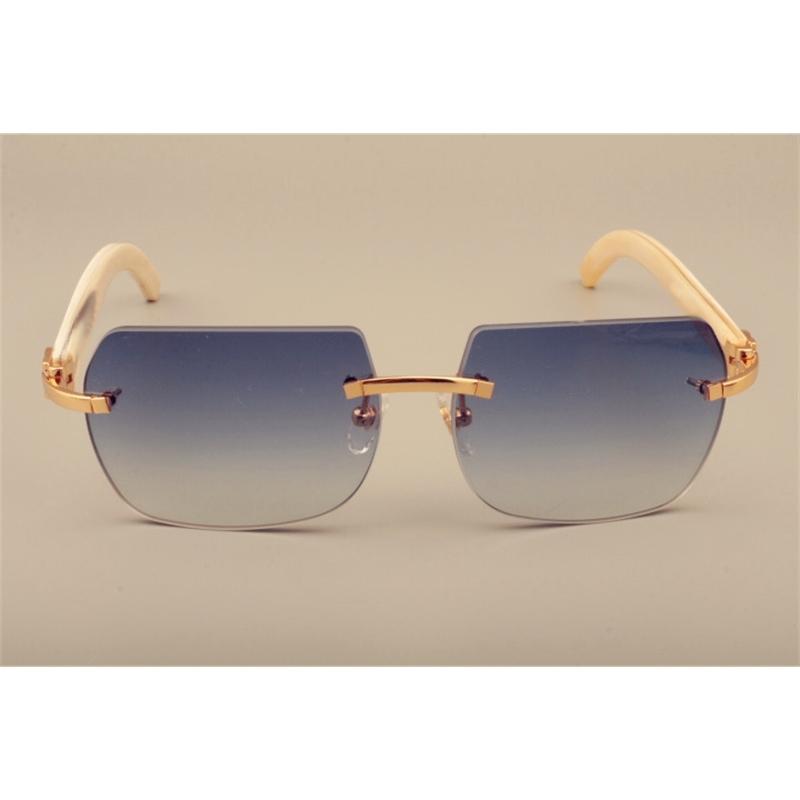 Lunettes de soleil à la mode Direct Natural Blanchon Natural personnalisé personnalisé peut être gravé de lentilles, taille mm de lunettes de soleil,