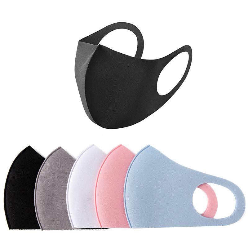 얼음 실크 코튼 마스크 방진 재사용 가능한 디자이너 얼굴 마스크 항균 세탁 가능