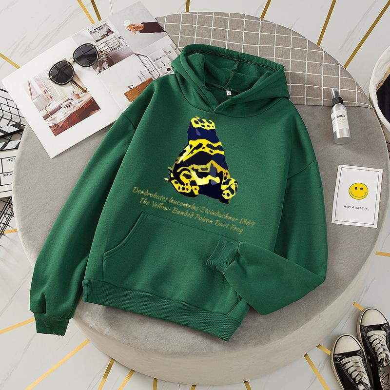 Hoodies Frauen Harajuku Freizeit Langarm Grafik Top Sweatshirt Mode Gothic Letters Frosch Print Womens Felpe Donna Damen Sweatshirts