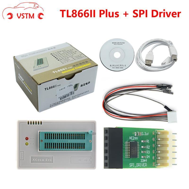 Ferramentas de diagnóstico TL866II Plus TL866 Atualizado MiniPro Universal Alta Velocidade USB Programador Desempenho 100% + SPI Driver