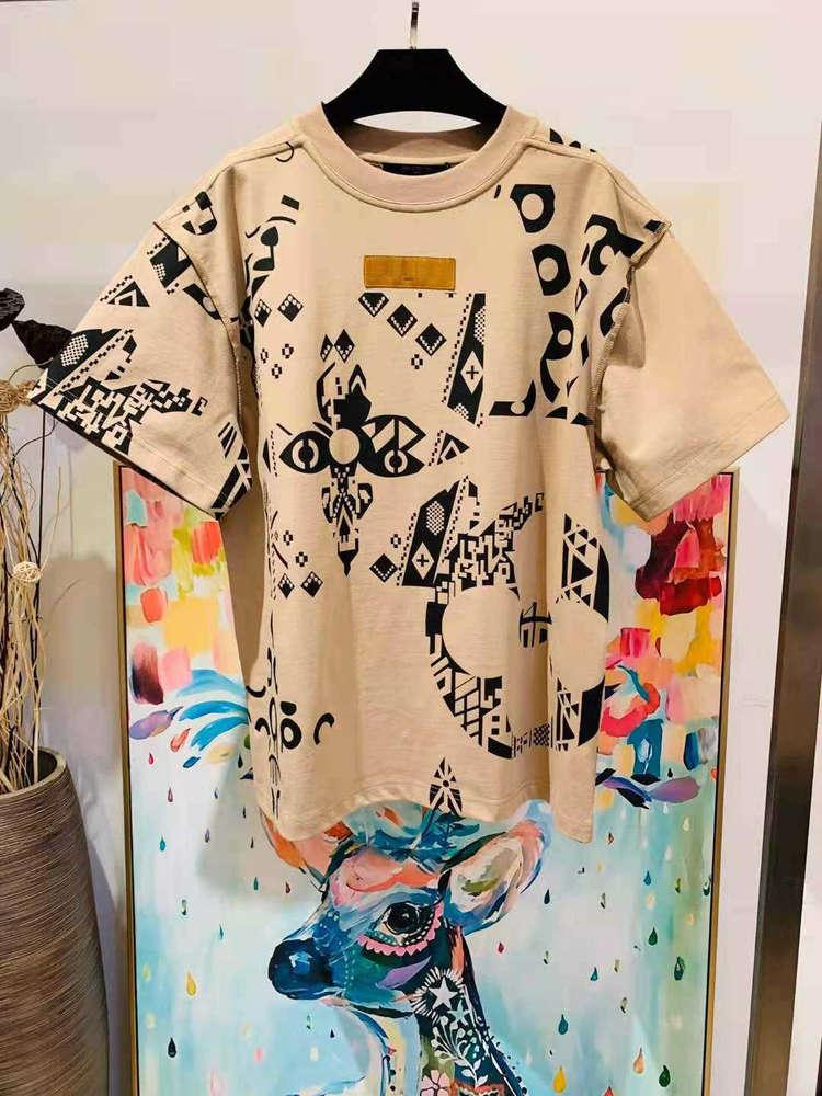 2021 Estate New Mens Designer BEIGE T-SHIRTS ~ Dimensione US Dimensioni ~ Mens Designer di alta qualità T-shirt manica corta