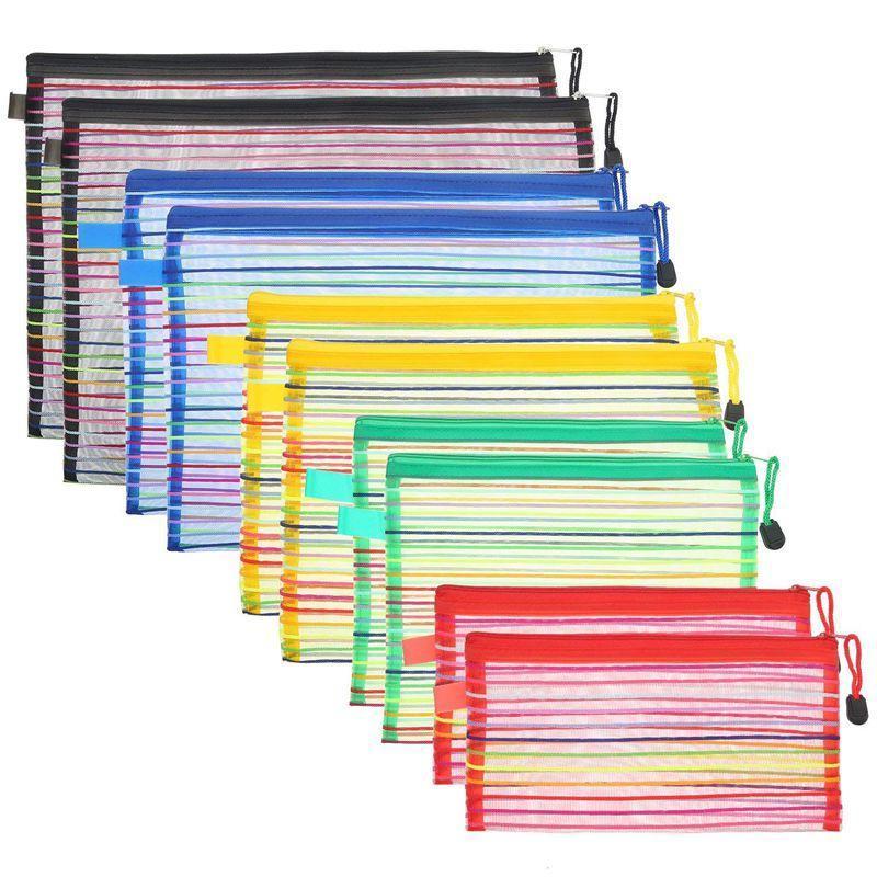 Hängende Körbe 10 Stück Ran Farbe Mesh Zipper Beutel Mehrzweck-Reisetasche für Kosmetikbüros Liefert Zubehör