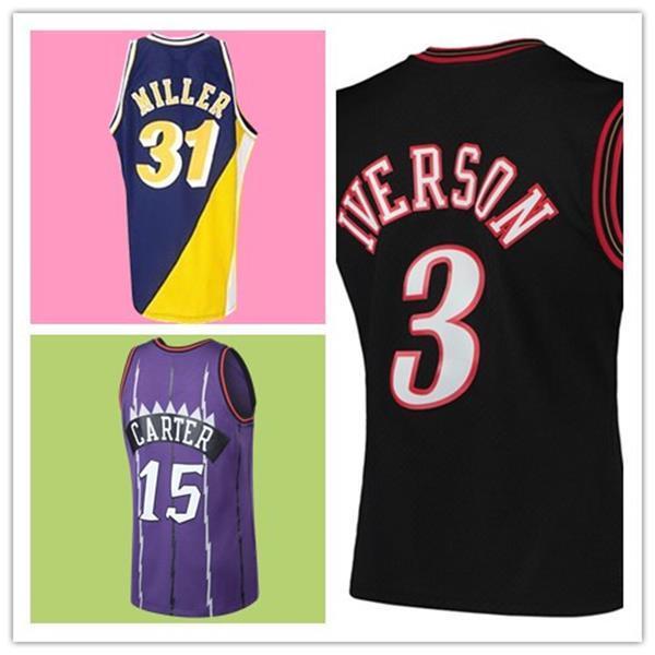 Los Retro Angeles Jersey Allen 3 Iverson Vince 15 Carter 23 Larry Jerseys Steve 13 Nash Basketball Top Sales