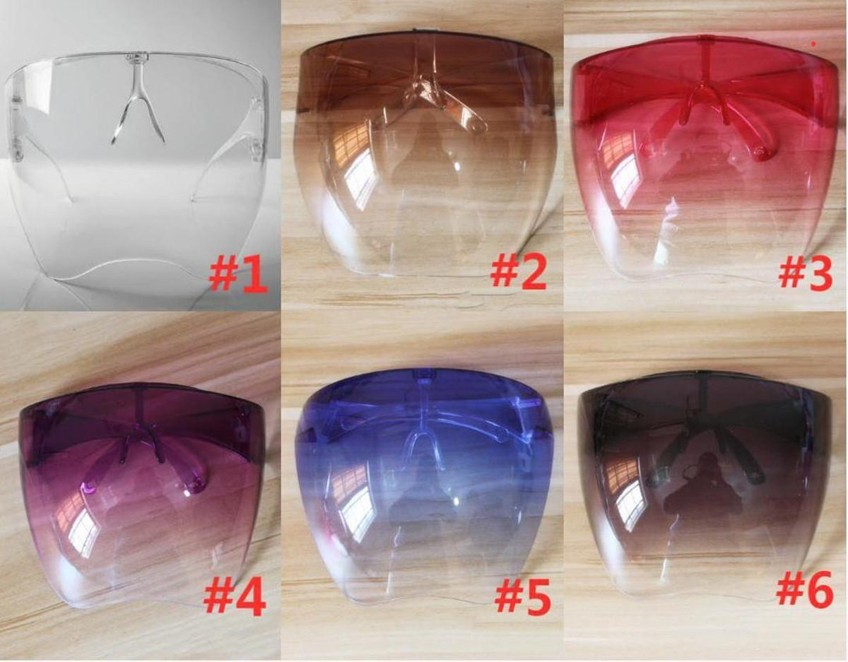 DHL Ship Clear Protective Face Masks Shield nGlasses Goggles Safety Waterproof Glasses Anti-spray Mask Protective Goggle Glass Sunglasses FY8334