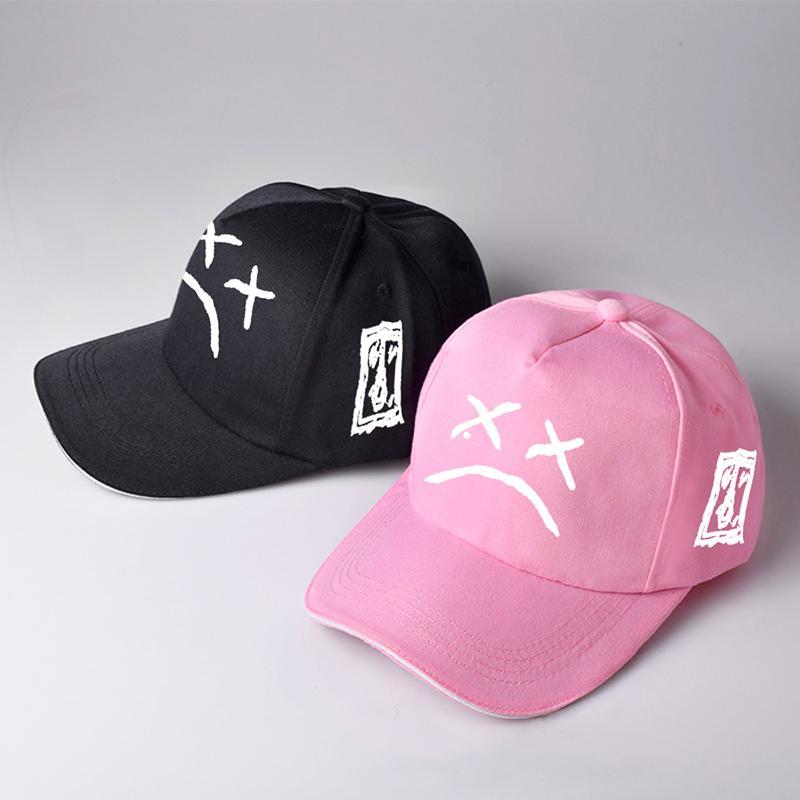 Sombrero de cara triste bordado algodón béisbol gorra xxxtentacion hip hop tops gorras sombreros de golf moda mujer y hombres sombra al aire libre tg0039