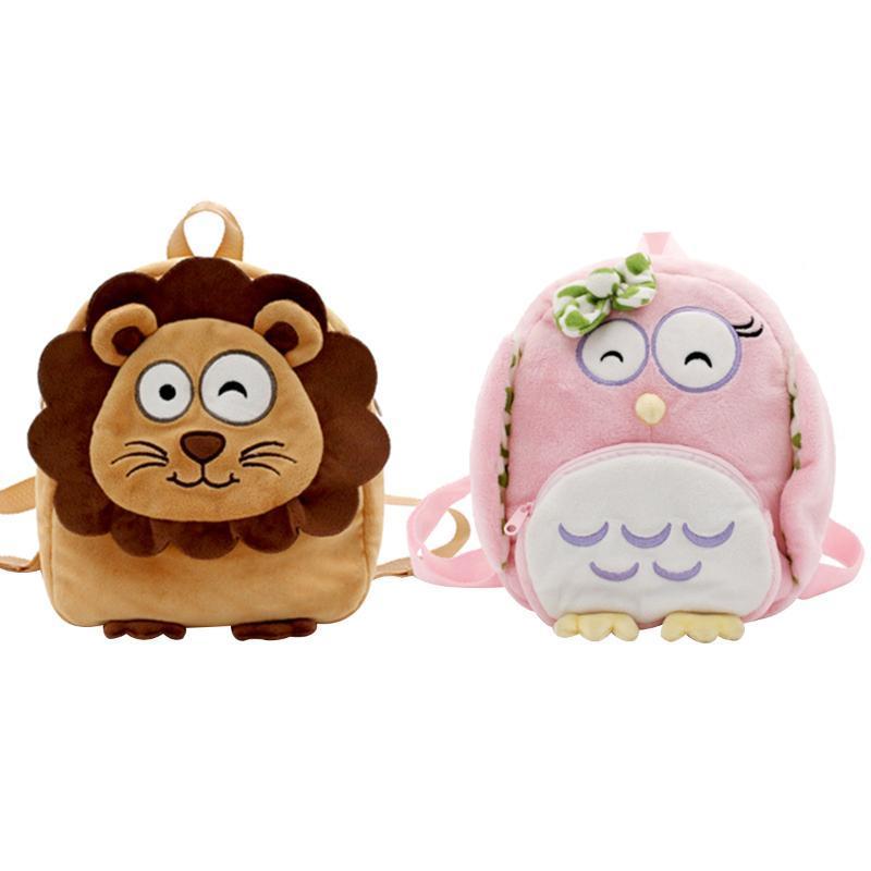Toddler Kids Sac à dos avec laisse de sécurité Lovely 3D Peluche Peluche Cartoon Animal Schoolbag pour filles garçons sacs de rangement sac de rangement