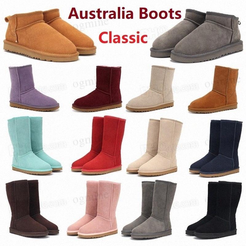 2021 дизайнеры австралийская простота классические прямые короткие II 2.0 звездные блестки снежные сапоги женщины плюшевые женские девушки леди зимнее колена ботинок