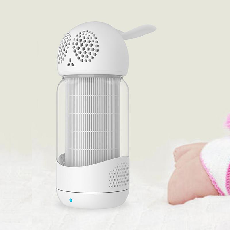 Мини-воздушный очиститель для дома спальня офис настольный номер безопасности портативный воздухоочиститель автомобиль милая форма кролика