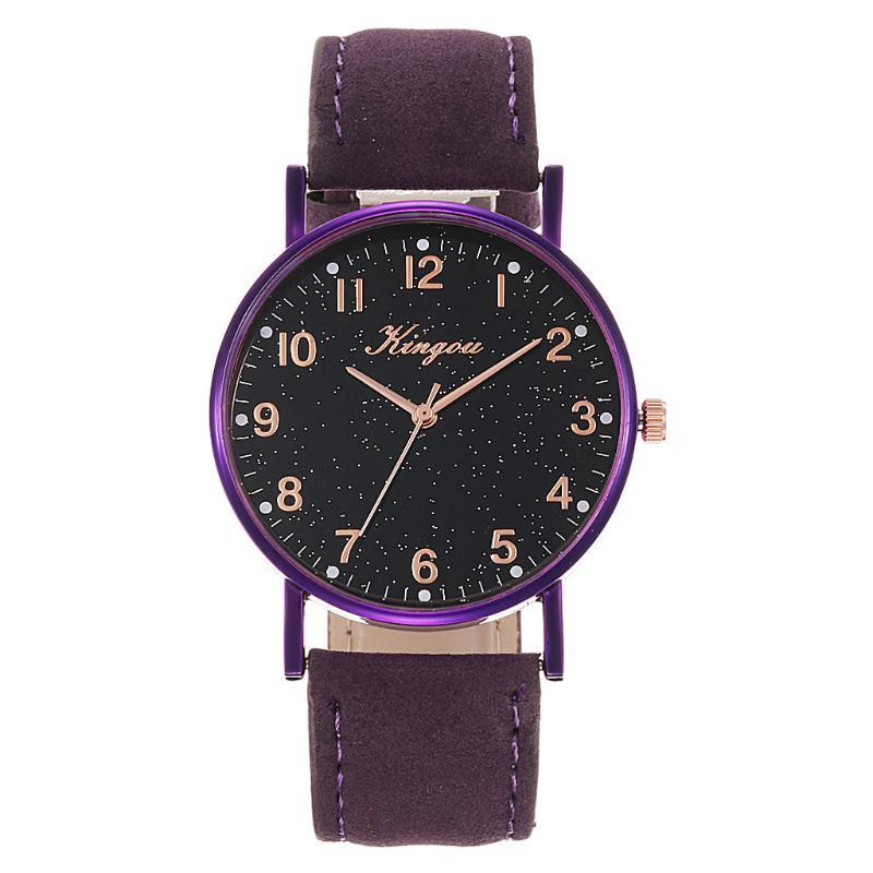 Wristwatches Women Leather Belt Watch Starry Sky Geneva Simple Ladies Quartz Zegarek Damski Watches