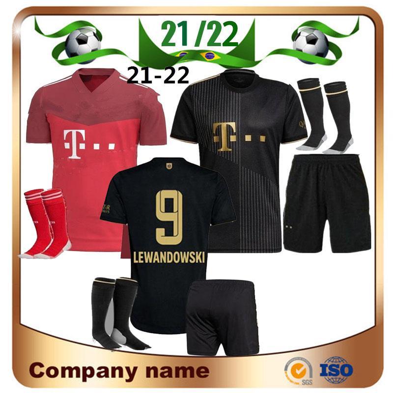21/22 kit kit kit bayern lewandowski munich camisas de futebol 2021 Sane Hernandez Kimmich Davies camisa de criança Ribery Goretzka conjunto completo de futebol uniforme