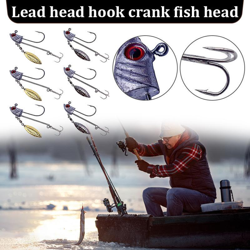 Fishing Hooks Accessories Lures Hard Bait Bass Eyes With Treble N66