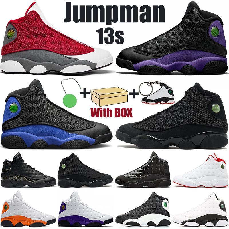 2019 Chaussures de basket-ball pour hommes 13 Hyper Roya Bred Black True Red Histoire Sneakers DMP Rem