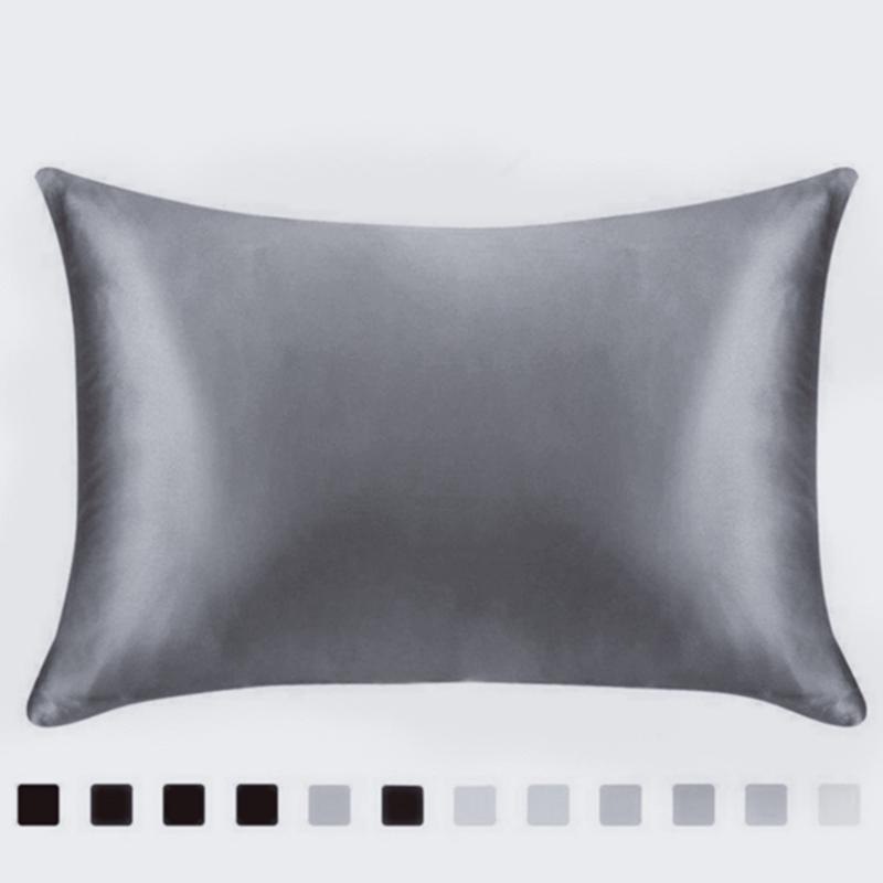 20 * 26 بوصة الحرير الحرير سادة بلون الوسائد غطاء فاخر الفراش السلس وسادة القضية ل سرير رمي zze5401