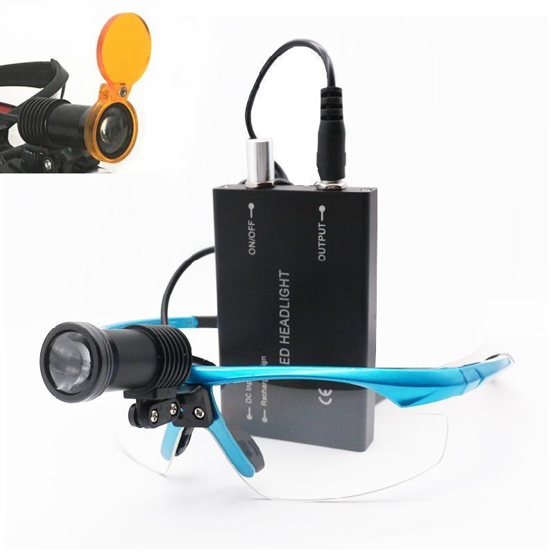 Hochwertiger Dentalfilter für Stomatologie 3 / 5W LED-Scheinwerfer-Scheinwerfer-Scheinwerfer-Sugel-Entschlüsse mit Gläsern-Scheinwerfer