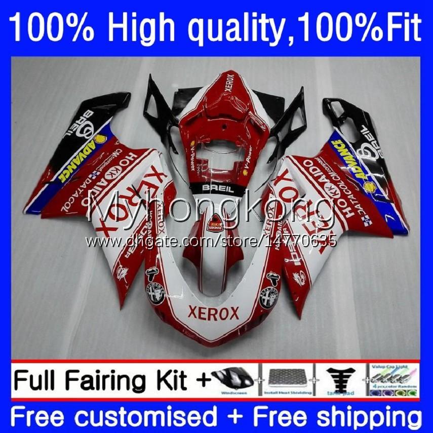Injection Fairings For DUCATI 848R 1098R 1198R 848 1098 1198 S R Bodywork 14No.0 848S 1098S 07 08 09 10 11 12 1198S 2007 2008 2009 2010 2011 2012 OEM Body Kit Factory Red