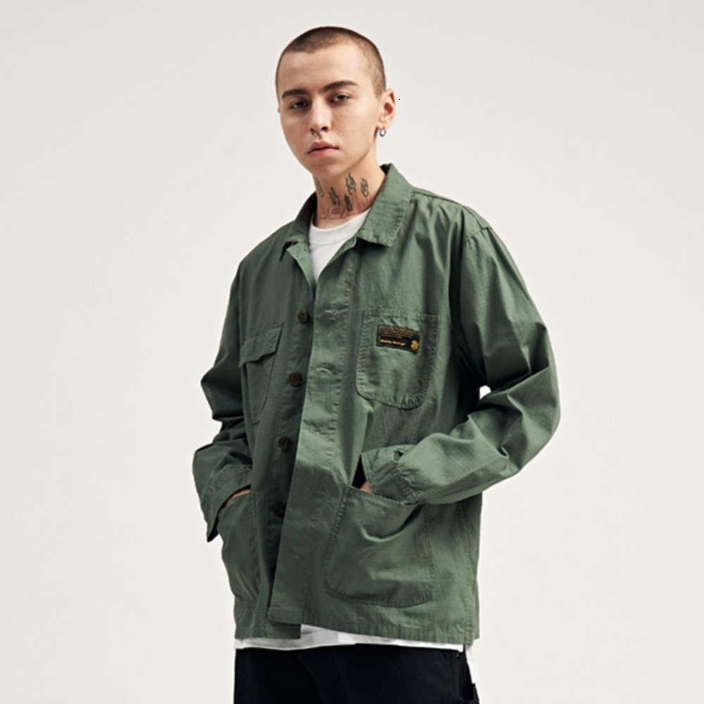 Mens Camouflage Langarm Hemden Hip Hop Casual Tasche Taste Hemden Mode Streetwear Männliche Tops