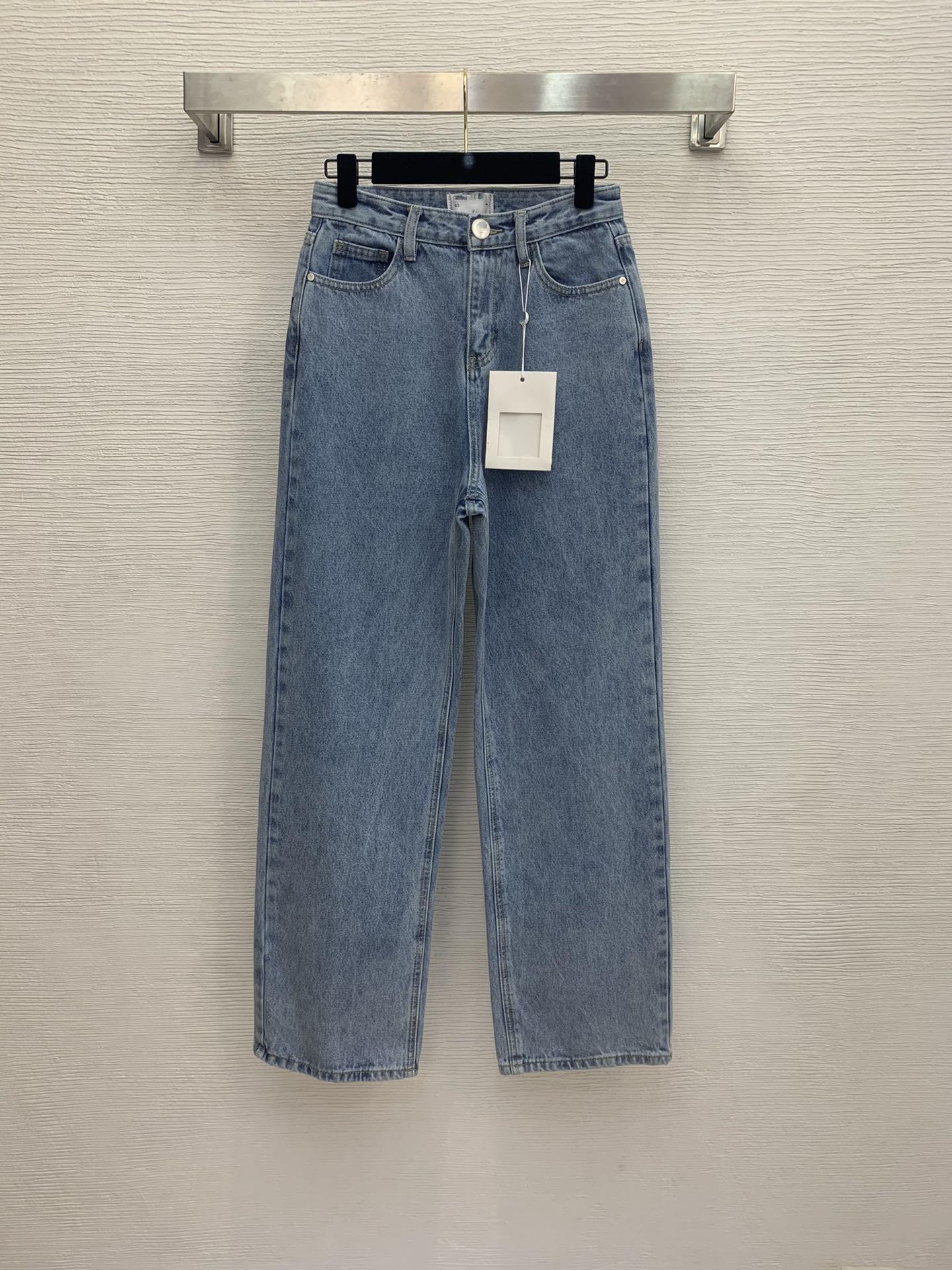 Milan Pist Jeans 2021 İlkbahar Yaz Moda Tasarımcısı Düz Kot Marka Aynı Stil Lüks Kadın Kot 0325-7