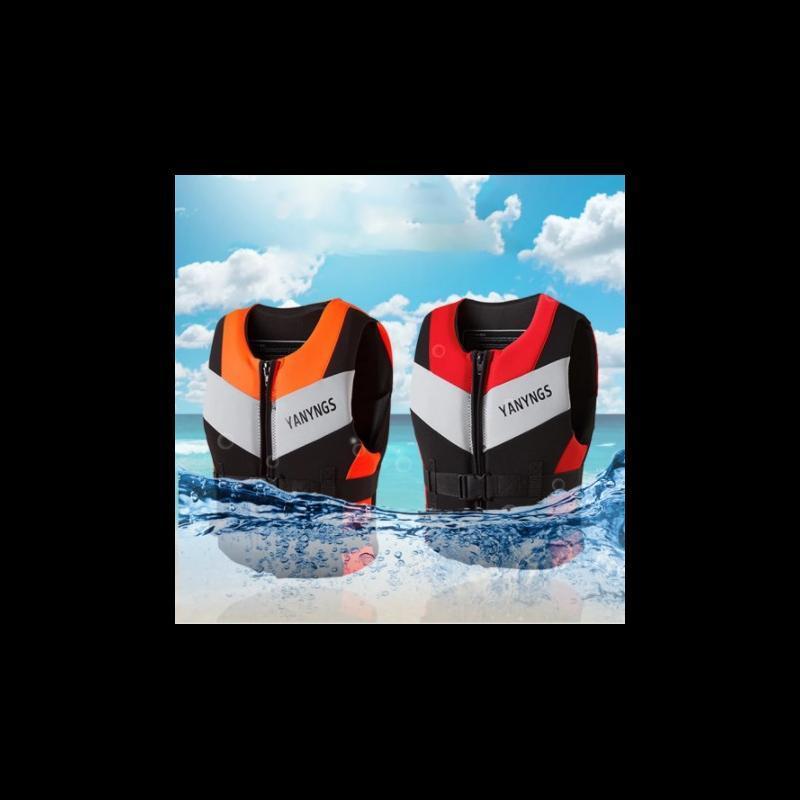 Life Vest & Buoy Jacket Neoprene Safety Water Sports Fishing Ski Kayaking Boating Swimming Drifting -40