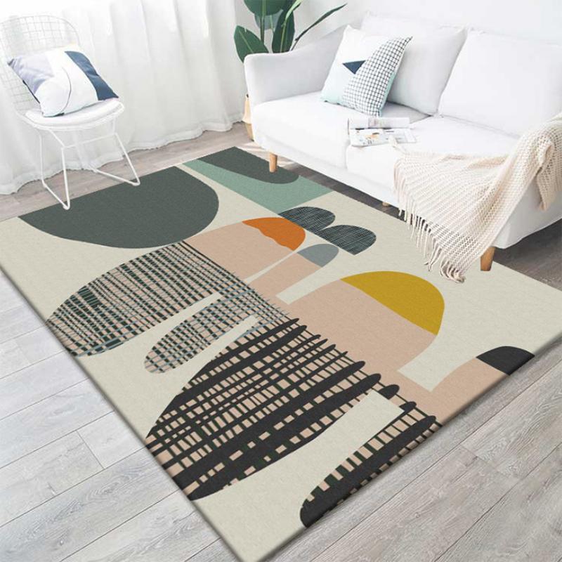 Modern Printing Geometric Carpets For Living Room Bedroom Anti-Slip Area Rugs Sofa Bedside Carpet Kid Home Decor Floor Mat