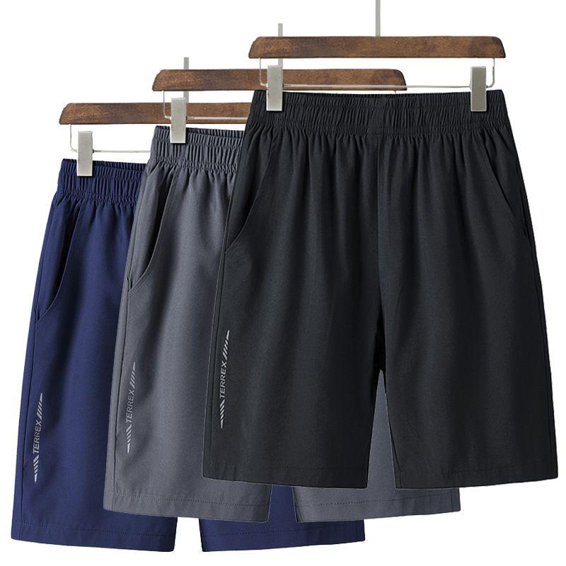 Pantalones cortos de verano para hombres Secado rápido y engorde de gran tamaño de 5 pulgadas Pantalones de 5 pulgadas Estilo delgado Hermano Big Brownpants Fat Man Hombre suelto Deportes Moda