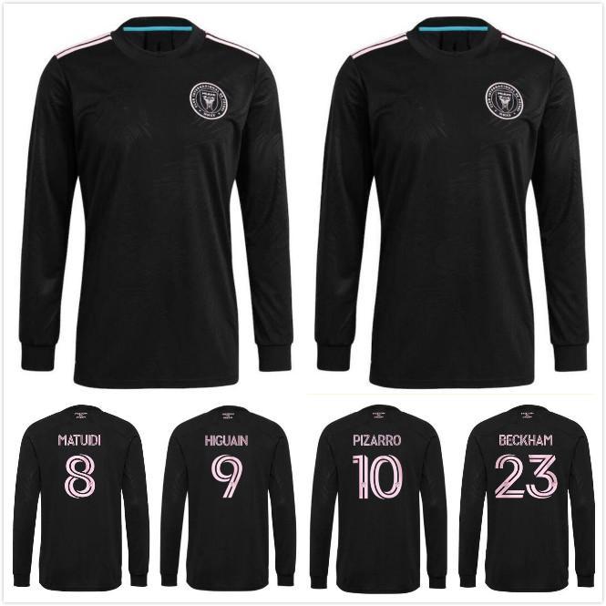 Uzun Kol 2021 2022 Inter Miami Futbol Formaları 21 22 Matuidi Higuain Pizarro Beckham Pellegrini Futbol Üniformaları