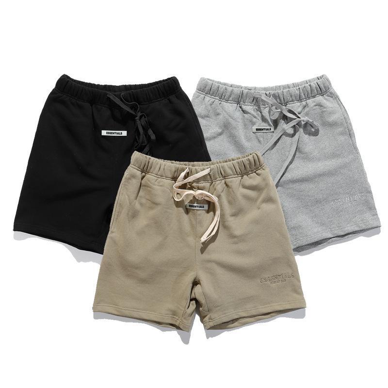 Top Designer Moda Marca Nevoeiro Essentials Mens Pure Algodão Corda Shrink Shorts 11 Alta Qualidade Unisex Calças Esportivas Casuais