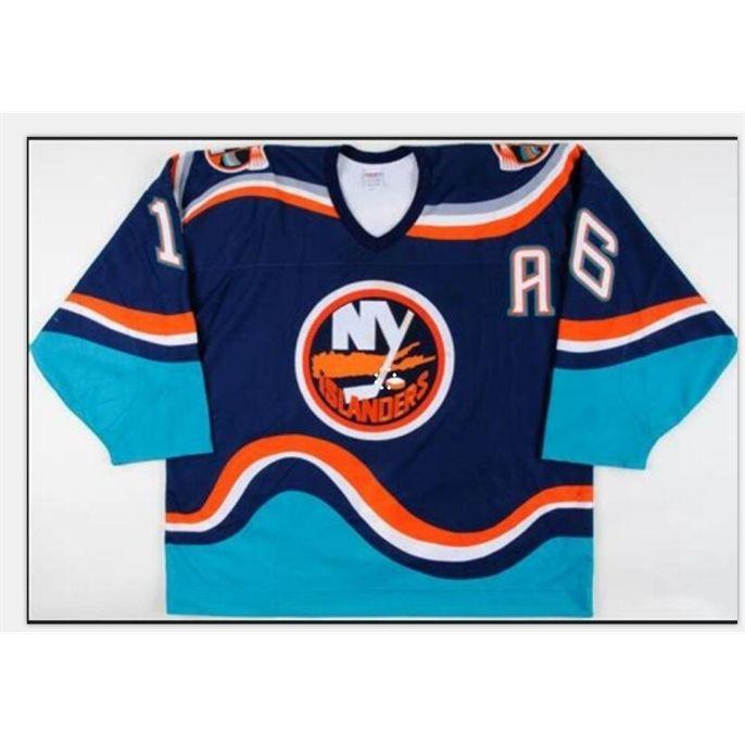 Custom Bay Youth women Vintage Bay #16 Fishsticks Ziggy Palffy 1997-98 New York Islanders Game Worn