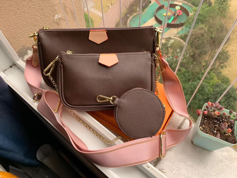 Sıcak Satış 3 Parça Set Lüks Tasarımcılar Çanta Kadın Crossbody Çanta Hakiki Deri Lüks Çanta Çantalar Tasarımcı Bayan Bez Çantalar Sikke Çanta