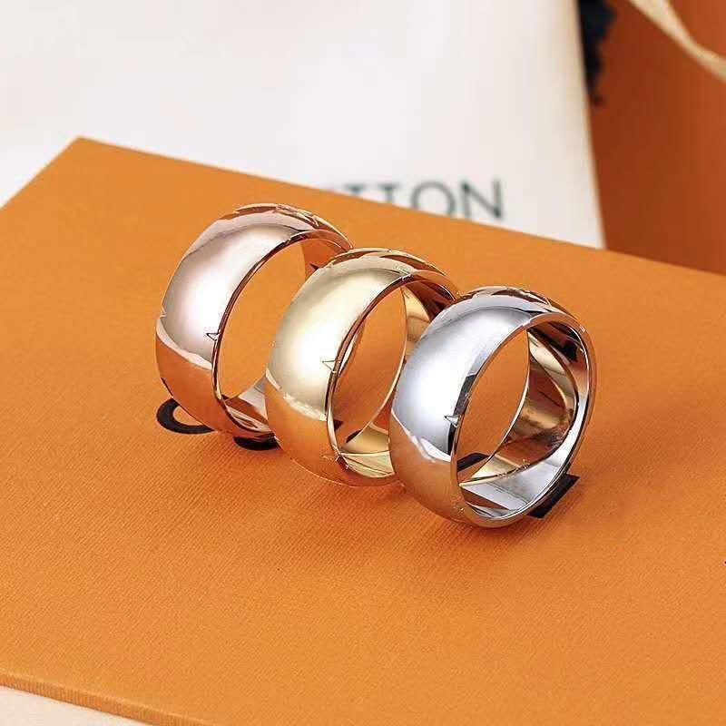 High quality designer stainless steel Band Rings fashion jewelry men's casual vintage ring ladies gift