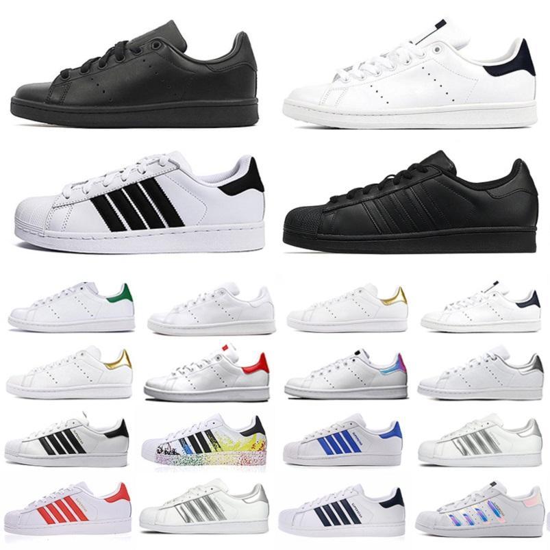 Продай хорошо О.Г. Стэн Смит Суперзвездика Мужская Бегущая обувь Трехместный Черный Белый Зеленая платформа Суперзвезды Мужчины Женщины Тренеры Спортивные кроссовки