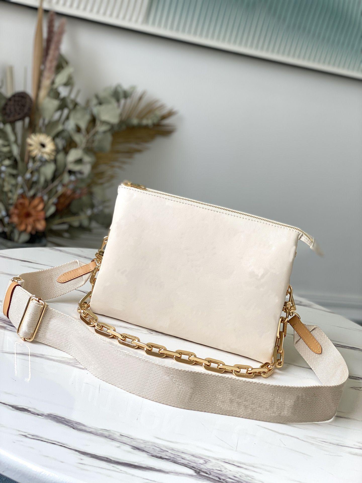 Primavera verão 2021 gravado saco de cadeia de couro inchado coussin pm bolsa de corpo de moda-frente sacos de ombro com a esteira superior qualidade bolsa carteira M57790 m57793