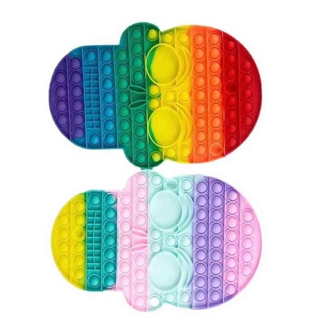 Arco iris grande tamaño pionero rompecabezas juguetes push pop burbujas cráneo forma fidget juguete de silicona mega jumbo tamaño gran tamaño popper estrés alivio Tiktok Sensory Board juego G69U4ZX