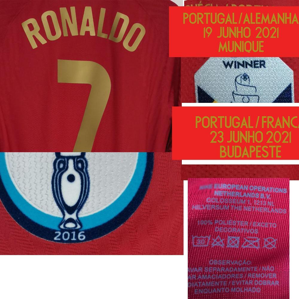 American College Football Wear 2021 Matchworn Jogador Edição Ronaldo Renato Sanches Bruno Fernandes Jota Bernardo Jersey Detalhes Maillot Shirt