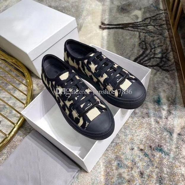 2021 Pattern Leopard Dress Dress Shoes Leather Lining Lace Up Boots Fashion Luxury Bianco Gomma Suola standard Dimensione standard 35-41