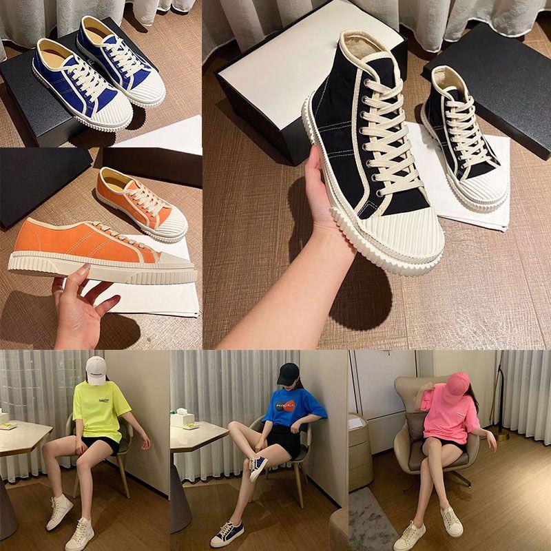 مصمم جودة عالية عارضة الأحذية عجلة casetta falt أحذية رياضية أحذية رياضية متعددة الألوان الأسود والأبيض المرأة النسيج منخفضة أعلى مربع 35-40
