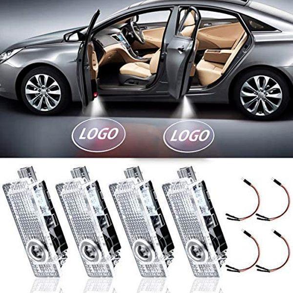 LED 자동차 도어 라이트 프로젝터 Courtresy LED 레이저 환영 로고 조명 램프 액세서리 Audi BMW Tesla Benz