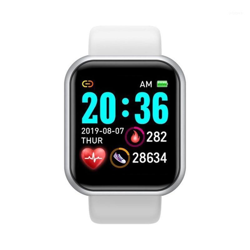 Pulseiras inteligentes 2021 Y68 Watch WiFi Pulseira de Esportes Pulseira Relógios de Relógios de Relógios para Mulheres / Mens Fitness Grande Screen1