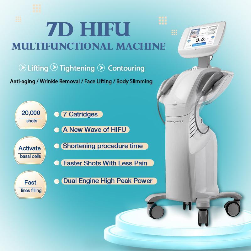 휴대용 디자인 HIFU Ultherapy 기계 바디 슬리밍 및 얼굴 리프팅 7D 고강도 Foucsed 초음파 살롱 장비 CE 허가 공장 공급