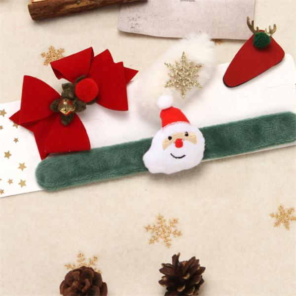WJH1147 Father Frost Figure Under Christmas Tree Clap Ring Gift Kits Bracelet Decoration Santa Claus Doll Snowman