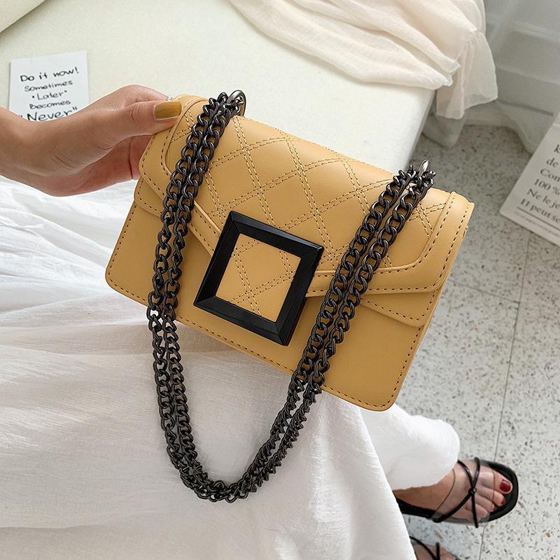 Único bolsa de ombro lantejoulas pequena praça 2021 nova moda primavera e verão cadeia feminina horizontal 5ykg