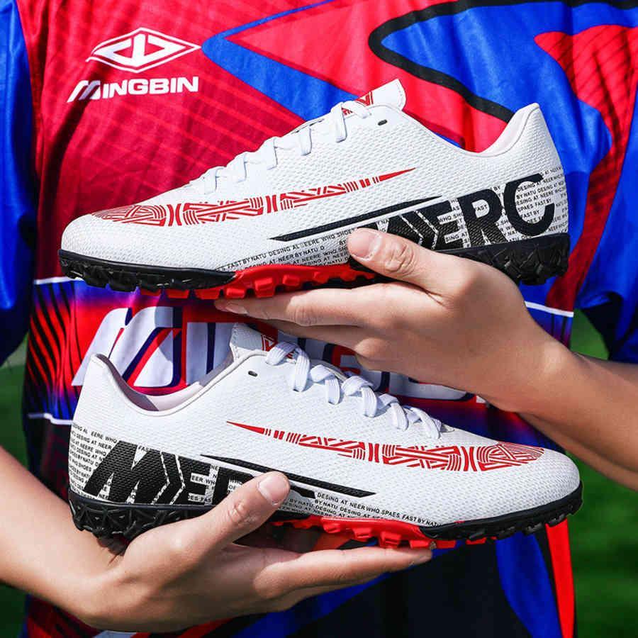Baixo treinamento casual homens grampos japoneses adultos sapatos de futebol tf top com novo estilo x3k6