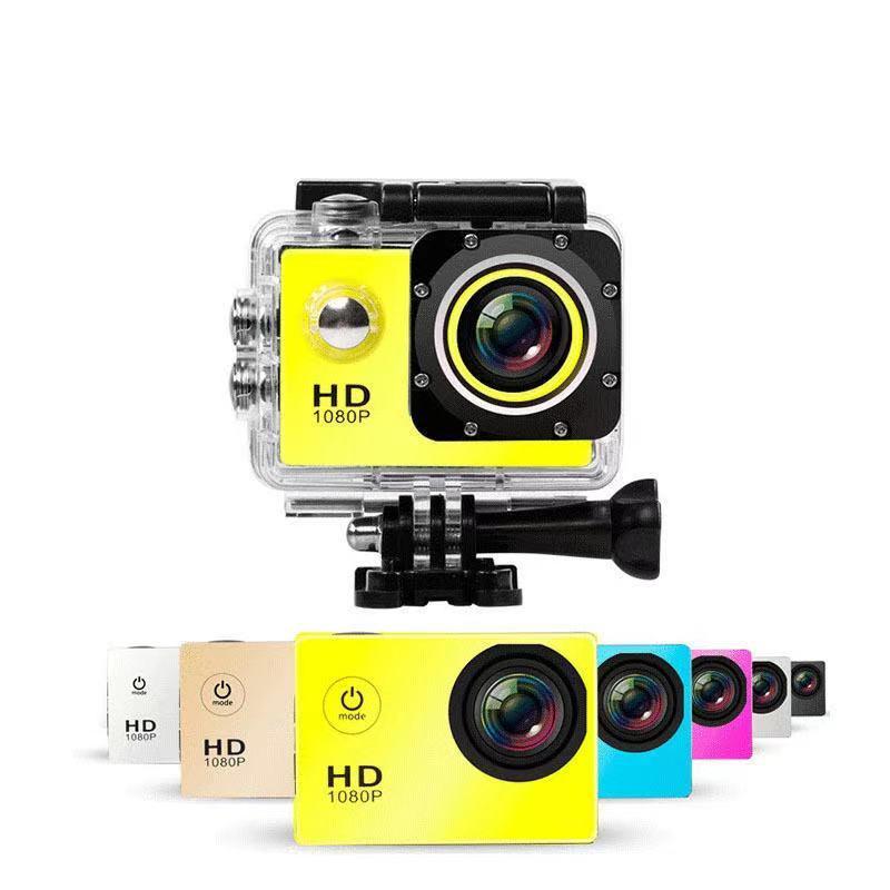 SJ4000 1080 P Full HD Aksiyon Dijital Spor Kamera 2 inç Ekran Su Geçirmez 30 M DV Kayıt Mini SKING Bisiklet Fotoğraf Video Kamera altında
