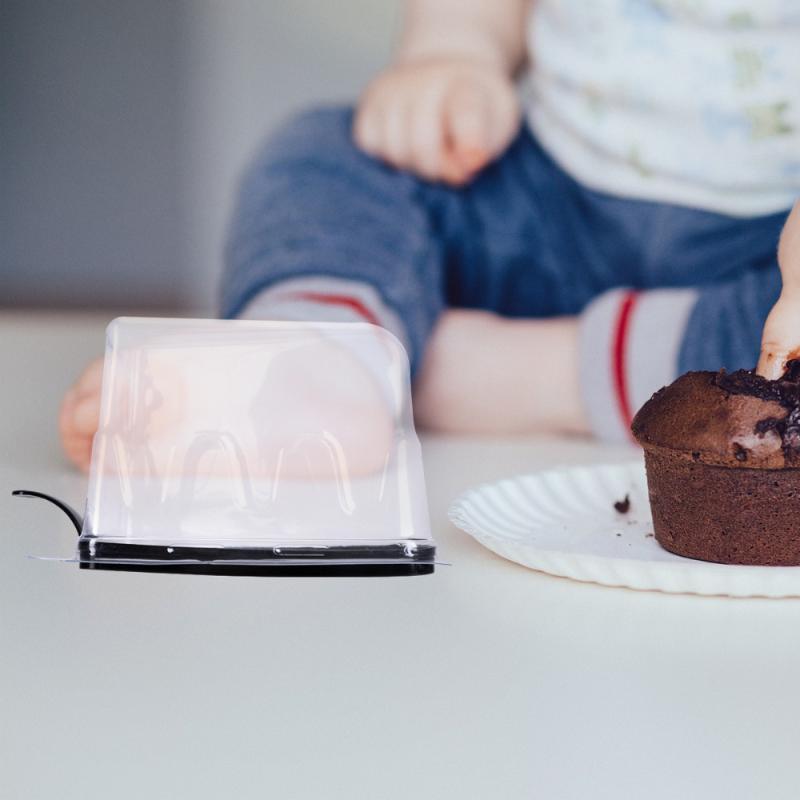 20pcs pequeno contêiner de torta triângulo triângulo caixa de bolo fatia transparente descartável tirar recipientes
